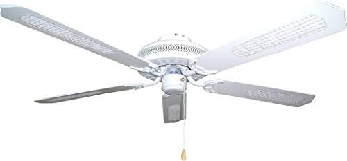 KYMPO W9525C - Ventilador (Ventilador con aspas para el hogar, Blanco, Techo, 132,1 cm (52