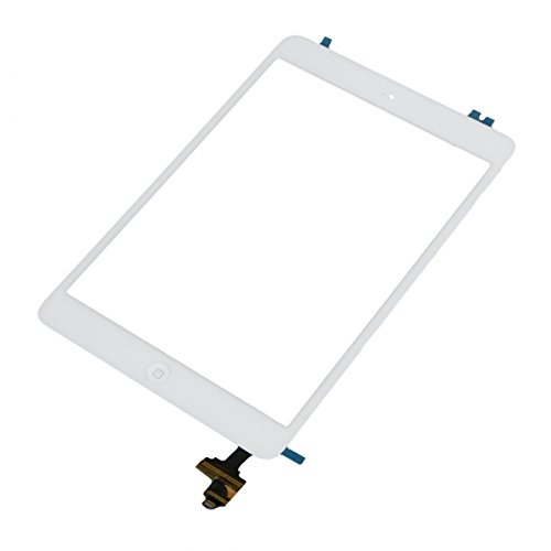 Smartex Touch Screen Glass Bianco Compatibile con iPad Mini 2 - Adesivo Pre-INSTALLATO - Tasto Home e Kit smontaggio Inclusi