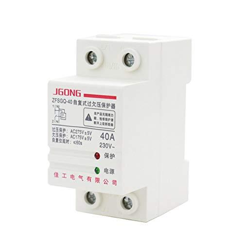 OIASD Protector de sobretensión de restablecimiento automático del hogar 2P 40A 63A fotovoltaico 220V 380V trifásico de Cuatro Cables, 63A
