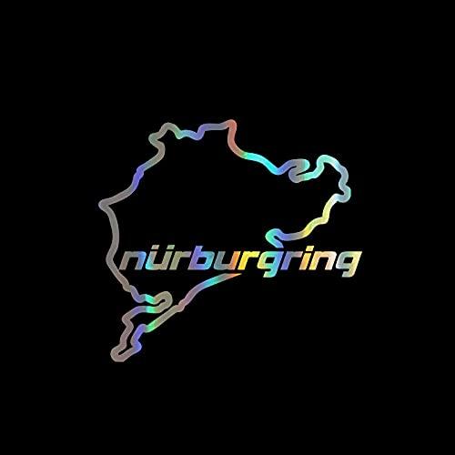 Kerri-007 14 cm x 13 cm Racing Road Racing Nurburgring pegatinas para coche, accesorios de cubierta de motocicleta arañazos impermeable PVC (nombre del color: blanco, tamaño: 28 cm x 26 cm)