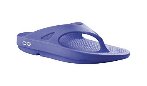 OOFOS Unisex Original Thong flip flop , Periwinkle, 7 M US Women / 5 M US Men's