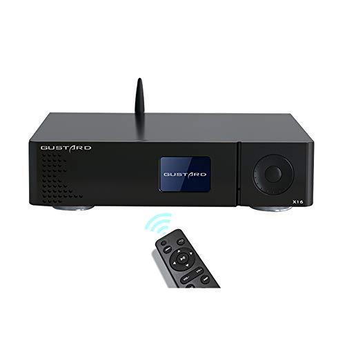 GUSTARD DAC-X16 USB DAC ES9068AS DAC DSD512 768kHz バランス Bluetooth 5.0 デスクトップデコーダー I2S/AES/COAX/OPT 入力(ブラック)
