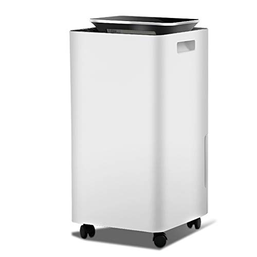 Buy Electric Air Dehumidifier with Drain Pipe, 10L/Day, Humidity 35%-80% Setting, 0-24H Timing, Dryi...