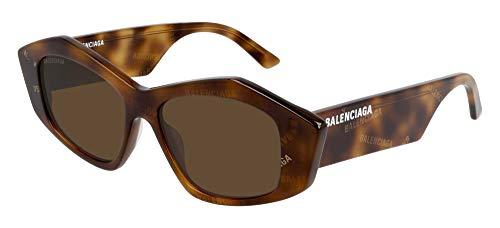 Balenciaga Sonnenbrillen BB0106S Havana/Brown 52/15/140 Damen