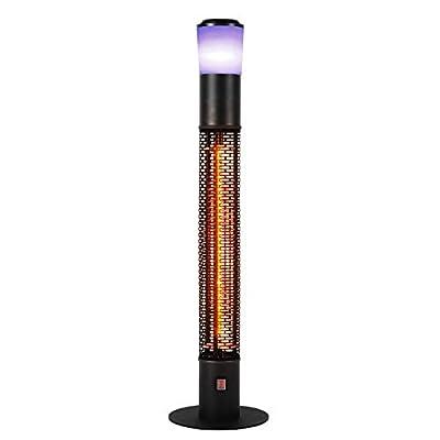 Star Patio Outdoor Freestanding Electric Patio Heater with Bluetooth Speaker, LED Light, Column Outdoor Heater Suitable as a Balcony Heater, Verandah Heater, BBQ Party Heater, ZHQ1588-RDM