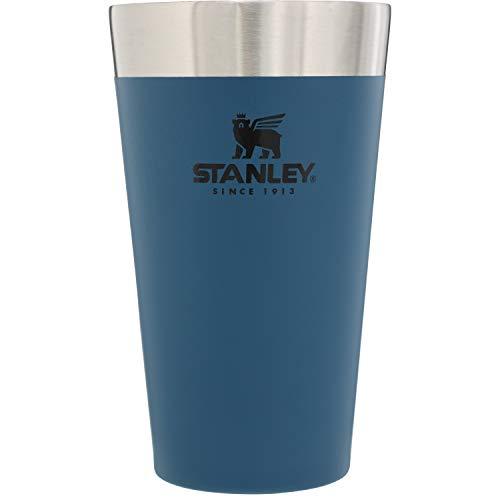 STANLEY(スタンレー) 新ロゴ スタッキング真空パイント 0.47Lマットネイビー 保温 保冷 ビール タンブラー アウトドア スポーツ観戦 保証 02282-130 (日本正規品)