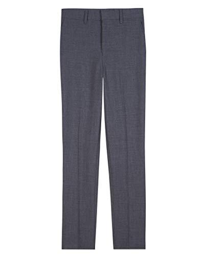 Arrow 1851 Boys' Little Aroflex Stretch Flat Front Dress Pant, Gray, 7