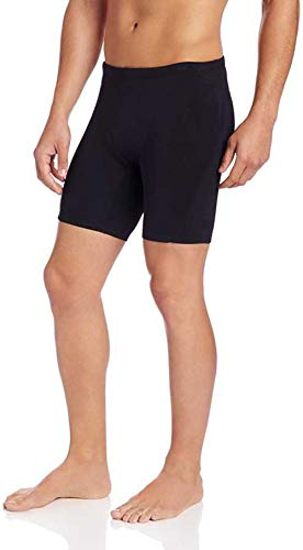 Compression Half Tight Plain Athletic Fit Multi Sports Cycling, Cricket, Football, Badminton, Gym, Fitness & Other Outdoor Inner Wear (Medium) Black
