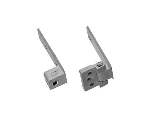 BUD Industries NBX-10970 Plastic NEMA Box Hinged Panel Bracket Kit, Light Gray Finish