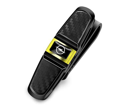 1 clip de almacenamiento de gafas de sol ABS para Opel Astra Insignia Corsa Vectra Meriva Zafira Mokka Grandland (dorado)