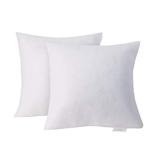 Acanva Square Basic Poly Pillow Insert, 28' L x 28' W, White 2 Pack