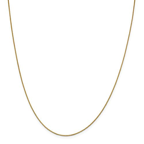 18K Yellow Gold Leslie's .90mm Box Chain Necklace - 18 Inch