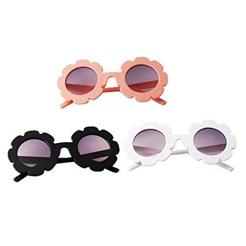 perfeclan Conjunto de 3 Gafas de Sol para niños Gafas de Aviador | Niños y niñas | Protección 100% UV 400 4-12 años