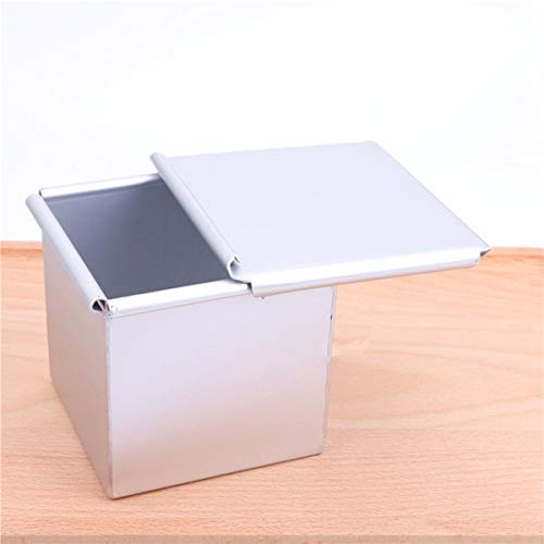 Gaosu Mini Toast Mold, Nonstick Square Loaf Pan, Bread Mold, Toast Box, Kitchen Baking Tool, Cake Dessert Making Mould with Lid(M)