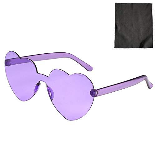 Herz Sonnenbrille Retro farbige Gläser Brille Herzform Valentinstag Karneval Party Brille für Frauen Männer (A)