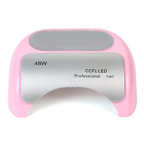 Cris nails - secador de uñas 48w lámpara LED UV profesional maquillaje uñas con temporizador CCFL para UV gel (Rosa)