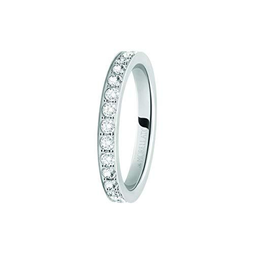 Morellato Anello da donna, Collezione Love Rings, in acciaio e cristalli - SNA41016