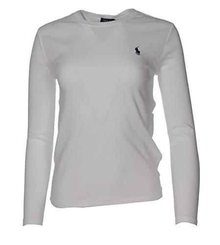 Ralph Lauren Damen Pullover - Einfarbig (Weiß, M)
