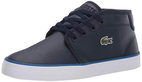 Lacoste Kids Ampthill Sneaker, Navy/Green, 12 Medium US Little Kid