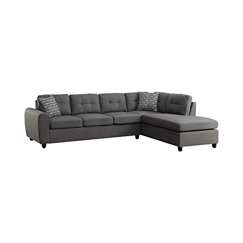 Coaster Home Furnishings Living Room Sectional Sofa, Espresso