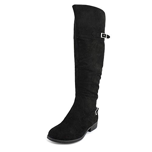 Price comparison product image American Rag Womens Adarra Closed Toe Over Knee Fashion,  Black Micro,  Size 5.0