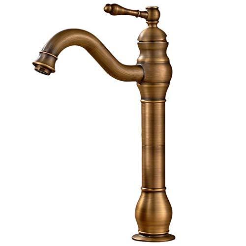 Bad Wasserhahn 360°Schwenkbare Einhebel Mischbatterie,Antik Nostalgie Öl eingerieben Bronze Gebürsteter,Waschtischarmatur Aufsatz-Waschbecken Armatur aus Messing,taltal serie B3-Messing