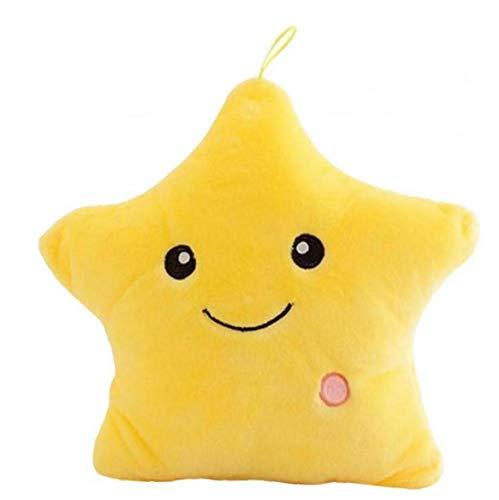 PiniceCore 1pc Luminoso Creativo Almohada Estrellas Relleno De La Felpa del Juguete De Luz Led Que Brilla Intensamente Colorido Cojín Regalos De Cumpleaños para Niños Juguetes para Niñas