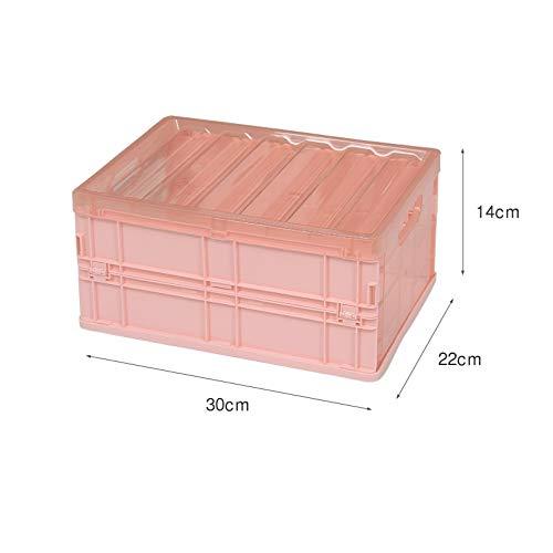 Caja de almacenamiento plegable de plástico, ropa transparente, caja de almacenamiento de...