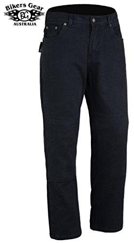Bikers Gear - Motorrad-Jeans/Cargohose, Schwarz (Black), 38R UK / 48R EU