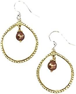 Willow House Jewelry Designed by Sara Blaine Women's Soho: Chocolate Pearl Earrings