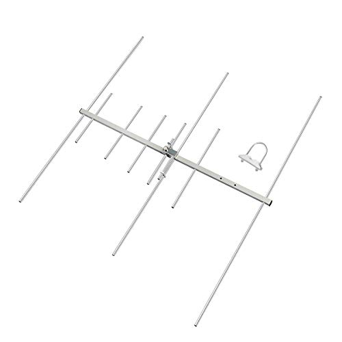 HYS Dual-Band 9.5/11.5dBi 100W Yagi Antenna 8 Element Beam 2 Meter/70 cm VHF/UHF Outdoor Yagi Antenna with U-Bolt for 144/430Mhz Ham Mobile Digital Radio/Repeater (TC-YG08UV)