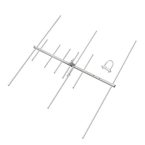 HYS Dual-Band 9,5/11,5 dBi 100 W Yagi-Antenne 8-Element-Strahl 2 Meter / 70 cm VHF/UHF-Yagi-Außenantenne mit U-Bolzen für 144/430 MHz Ham Mobile Digitalradio/Repeater (TC-YG08UV)