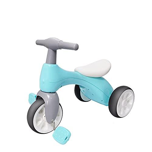Afang Kinder Walker Balance Bike, Stilvolles Und Frisches Training Bike Sliding Dreirad, Kinderdreirad Kinderwagen Dreirad Klappbares Monaten Mitwachsend,Blau