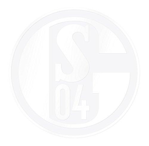 FC Schalke 04 Aufkleber S04 weiß 20cm