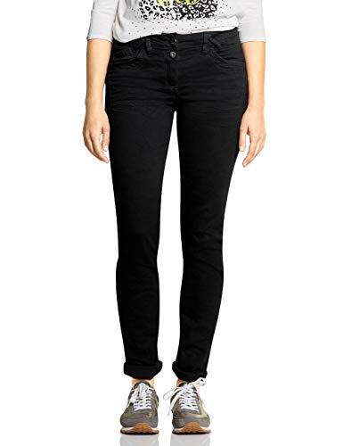 CECIL Damen Scarlett Jeans, Black Denim 10273, 28W / 32L