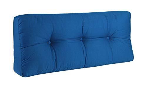 BioKinder Rückenkissen Keilkissen Sofakissen 100 x 40 cm aus Baumwolle in blau