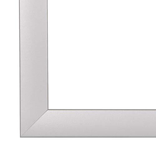 PN35 Bilderrahmen 100x140 cm in Silber matt mit entspiegelten Acrylglas