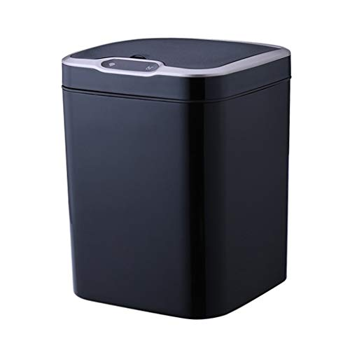 caihuashopping Papeleras Creativo Sensor Inteligente Bote de Basura Hogar Sala de Estar Dormitorio Cocina con Tapa Contenedor de Almacenamiento Cubo Basura (Color : Black -c15L)