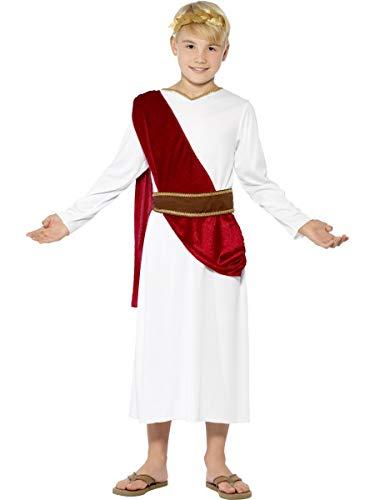 Smiffys Costume Antico Romano, bianco, con Veste, Cinta e Copricapo