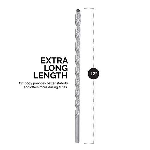 "Neiko 10047A 12"" Extra Long Drill Bit Set, 5 Piece   1/8"