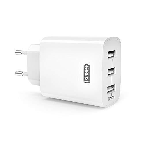 RAV Power | USB lader | 3 poorten | Snelladen | 2.4 Ampère | Veilig