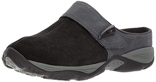 Easy Spirit Women's Eliana Mule,BLACK/BLACK SUEDE,8 M US