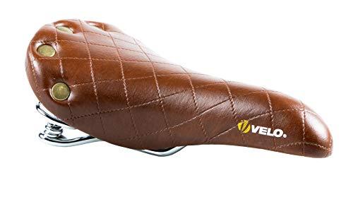 VELO - Sillin Bici Vintage Sport Plush Marron con muelles (Marron)