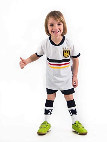 Trikotset Trikot Kinder 4 Sterne Deutschland Wunschname Nummer Geschenk Größe 116-176 T-Shirt Weltmeister 2014 Fanartikel WM 2018