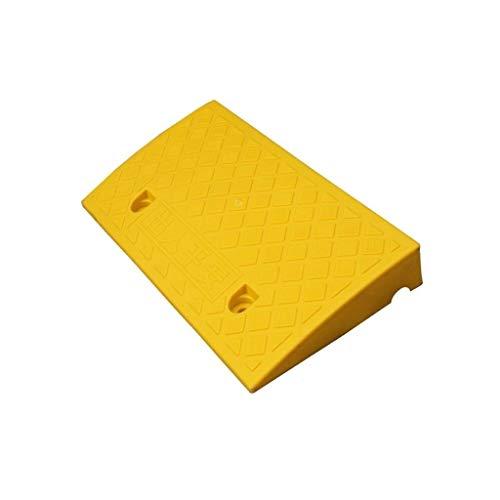 Buffer-Feng Rollstuhl-Aufstiegsrampe, Stufenrampe mit Mehreren Höhen Hochwertige Kunststoff-Aufstiegsrampen SUV-LKW-Wohnwagen, dreieckige Aufstiegsrampe, gelb (Color : Yellow, Size : 50 * 27 * 11CM)