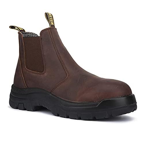 ROCKROOSTER Soft Toe Work Boots for Men, 6