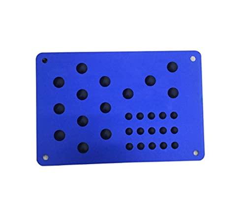 XIAOQIN BOMY Ajuste para 1pc Universal Coche Piso Mat Pie Tacón Securamiento Placa Sin resbalón Alfombra Remiendo Automóvil Allay Desgaste Placa Anti-Skid Pad (Color Name : F)