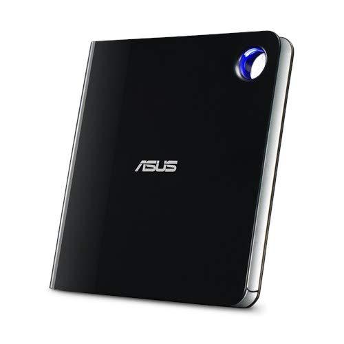 ASUS SBW-06D5H-U BDXL Extern Ultra Slim Blu-ray und MDisc Brenner (USB 3.1, USB-C, 2 Kabel) schwarz