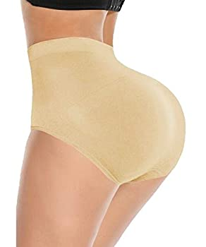 SEXYFROM Womens Shapewear Butt Lifter Padded Control Panties Body Shaper Brief Beige