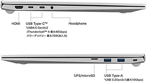 LGノートパソコンgram1350g/バッテリー最大27時間/Corei7/17インチWQXGA(2560×1600)/メモリ16GB/SSD512GB/Thunderbolt4/シルバー/17Z90P-KA76J(2021年モデル)/Amazon.co.jp限定